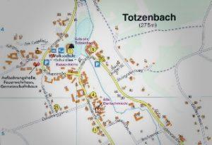 Dorfplan Totzenbach mini